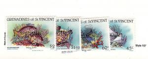 St. Vincent (Gren.), 399-402, Fish Specimen Singles, MNH
