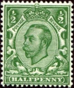 SG344 SPEC N5(1), ½d green, NH MINT. Cat £14.