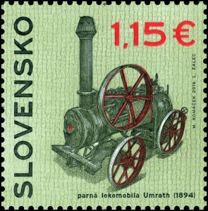 Stamps of Slovakia 2013. - Technical monuments: steam locomotive Umrat (1894)