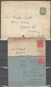 COLLECTION LOT # 2442 GREAT BRITAIN #127-8 ON 3 COVERS