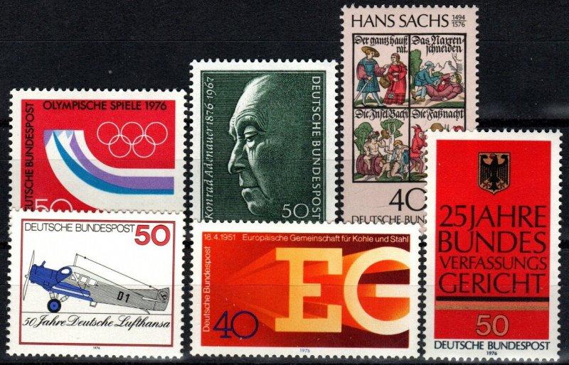 Germany #1204-9  F-VF Unused CV $5.70 (X2744)