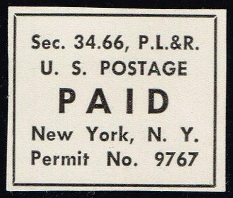 Postage Paid Permit Cut Square