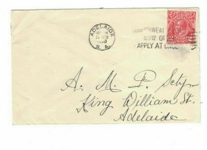 APH1376) Australia 1930 2d Red KGV Die I Small Cover