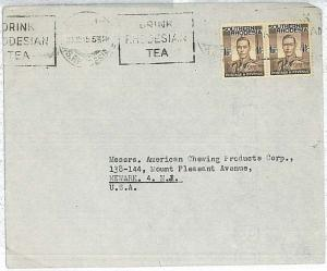 TEA - SOUTHERN RHODESIA  - POSTAL HISTORY:  AIRMAIL COVER to ITALY 1945