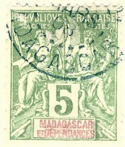 French Madagascar (Scott #32) Used F-VF hr...French Colonies are hot!