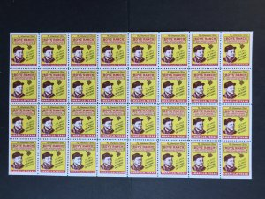 America's First Boys Ranch - Cal Farley's Amarillo, Texas Full Sheet of Labels
