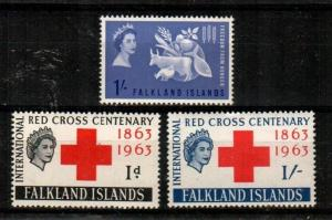 Falkland Islands Scott 146-8 Mint NH (Catalog Value $36.50)