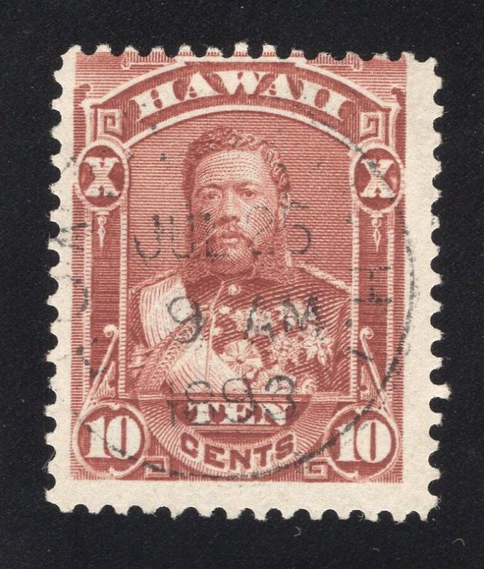 Hawaii #44 Red Brown - Dated Cancel