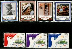 NORFOLK IS. Sc#385-400 1986 Four Complete Sets OG Mint NH