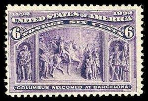U.S. COLUMBIAN ISSUE 235  Mint (ID # 73912)