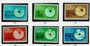 British Antarctic Territory:1982, Gondwana - Climatic Change MNH + Gutter pairs