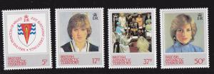 British Antarctic, # 92-95, Royal Wedding, NH, 1/2 Cat.