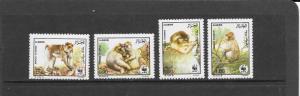 World Wildlife Fund-Monkeys-Algeria #872-875