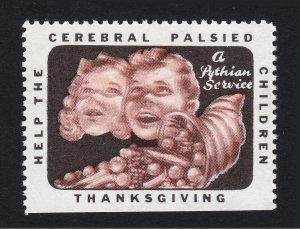 REKLAMEMARKE POSTER STAMP HELP THE CEREBRAL PALSIED CHILDREN THANKSGIVING