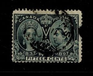 Canada SC# 58, Used, side tear, shallow top margin thin - S3897