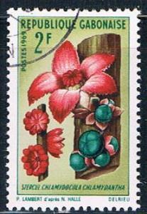 Gabon 245 Used African Flower ul 1969 (G0315)+