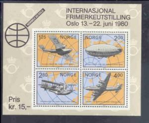 Norway Sc 753 1979 NORWEX '80 Philatelic Exhibition stamp sheet mint NH