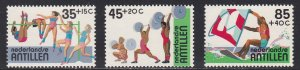 Netherlands Antilles # B206-208, Various Sports, NH, 1/2 Cat.
