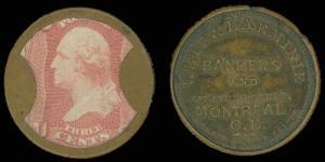US SCOTT EP175 Weir & Larminie ENCASEMENT W 3¢ Rose, ONLY 2 KNOWN! garyposner!!!