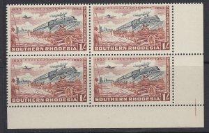 Southern Rhodesia, Scott 78 (SG 75), MNH block