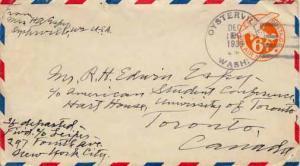 United States, Postal Stationery, Airmail, Washington