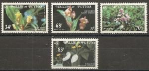 Wallis and Futuna Islands 283-6 1982 Orchids set NH