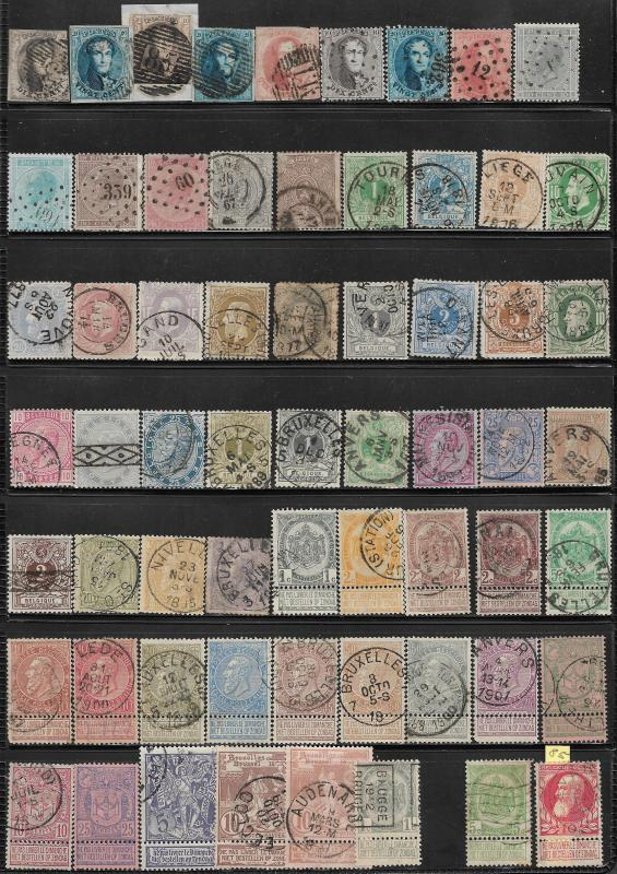 Belgium collection of 1326 DIFFERENT stamps. NO duplication. List of stamps incl