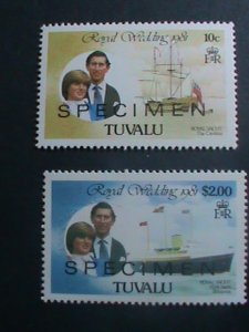 TUVALU-SPECIMENT-1981 ROYAL WEDDING-PRINCESS DIANA MNH SET  VERY FINE