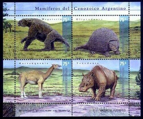 HERRICKSTAMP ARGENTINA Sc.# 2144 Prehistoric Animals Souvenir Sheet