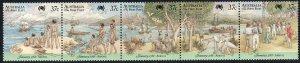 1989 Australia 1st fleet Rio de Janeiro 37¢ strip of 5 MNH Sc# 1027a-e CV $3.75