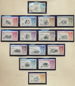 Falkland Islands Stamps Scott #128 To 142, Mint Lightly Hinged - Free U.S. Sh...