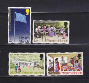 Pitcairn Islands 123-126 Set MNH Various