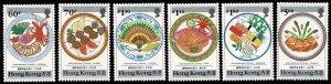 HONG KONG QE II 1990 CUISINE SET MINT (NH) SG636-41 Wmk.NONE P.12.5 x 13 SUPERB