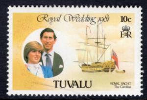 Tuvalu 157 Royal Wedding MNH VF