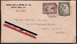 JAMAICA 1935 8d rate airmail cover to UK......................34015
