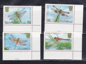 Tuvalu 200-203 Set MNH Insects, Dragonflies
