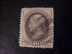 1873 TEN CENT JEFFERSON USED SCOTT 161