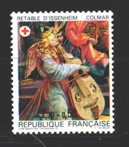 France. 1985. 2523A. Music playing the cello red cross. MNH.