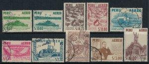 Peru #C115-22  CV $3.85