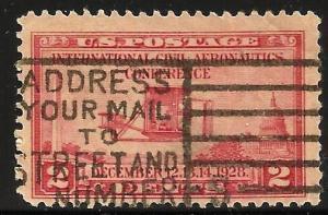 United States 1928 Scott# 649 Used Postmark!!
