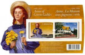 Canada - #2276 ANNE OF GREEN GABLES SOUVENIR SHEET - MNH