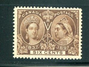 Canada #55 Mint VF  lightly hinged