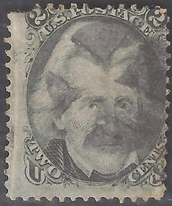 US #73 Used Faulty CV$55.00 Black Jack