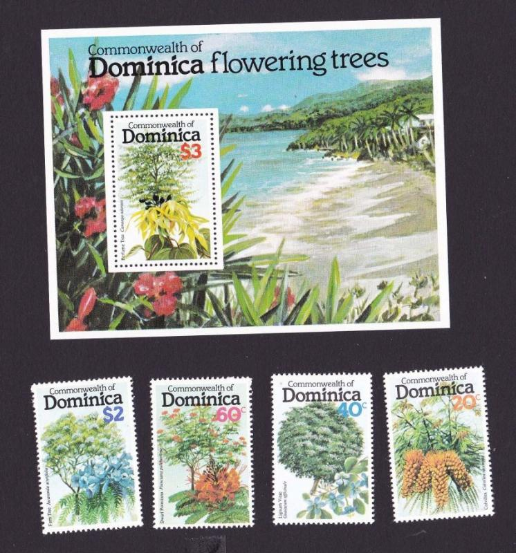 Dominica 1979 635-638,639 flower MNH OurRef.#z0134