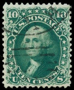 momen: US Stamps #62B Used First Design VF+ WEISS Cert