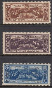 Egypt 203-5 Treaty mint