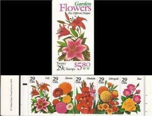 US Stamp - 1994 Garden Flowers - 20 Stamp Booklet #BK215