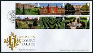 HERRICKSTAMP GREAT BRITAIN Sc.# 3748-53 Hampton Court FDC East Molesey Cancel