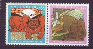J23890 JLstamps 1994 australia part of set pair mnh #1377a designs