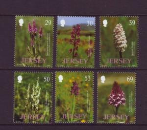 Jersey  Sc 1078-83 2003 Wild Orchids stamp set mint NH